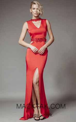 Aida Lorena SL116 Red Front Evening Dress