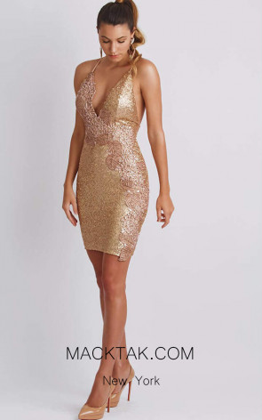 Baccio Alison Gold Front Dress