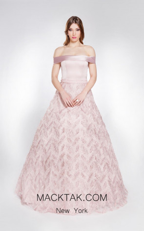 Alma Couture AC1002 Pink Front Evening Dress