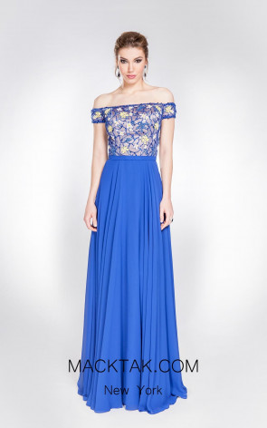 Alma Couture AC1006 Royal Front Evening Dress
