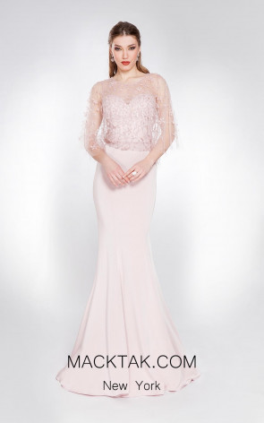 Alma Couture AC1015 Pink Front Evening Dress