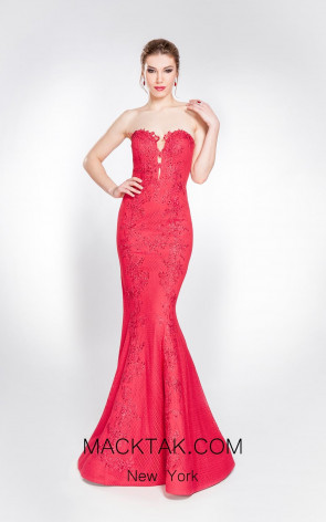 Alma Couture AC1019 Front Evening Dress