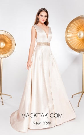 Alma Couture AC1022 Front Evening Dress