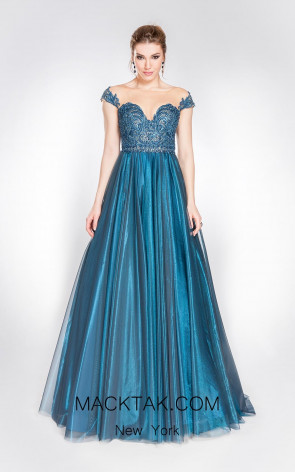 Alma Couture AC1030 Front Evening Dress