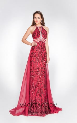 Alma Couture AC1050 Front Evening Dress