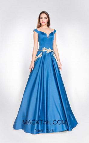 Alma Couture AC1060 Front Evening Dress