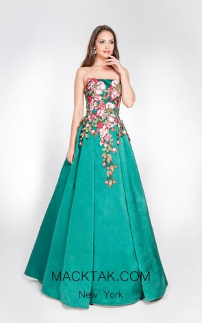 Alma Couture AC1061 Front Evening Dress