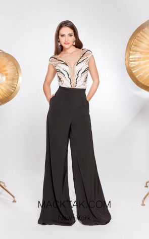 Alma Couture AC1075 Front Evening Dress