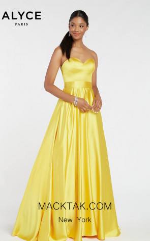 Alyce Paris 1427 Yellow Front Dress