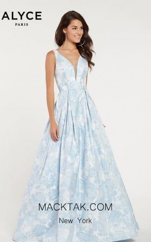 Alyce Paris 1434 Light Blue Front Dress