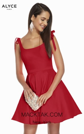 Alyce Paris 1450 Red Front Dress