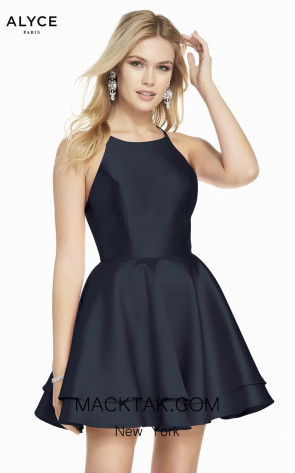 Alyce Paris 1457 Midnight Front Dress