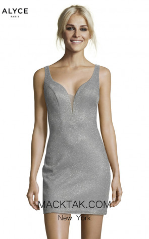 Alyce Paris 1480 Silver Front Dress