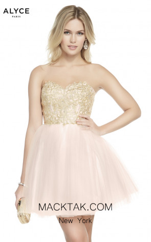 Alyce Paris 1486 French Pink Front Dress