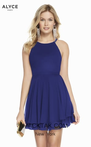 Alyce Paris 1491 Cobalt Front Dress