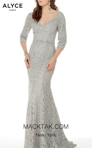 Alyce Paris 27004 Gray Front Dress