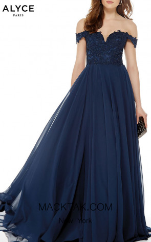 Alyce Paris 27018 Navy Front Dress