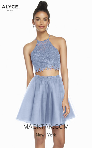 Alyce Paris 3824 French Blue Front Dress