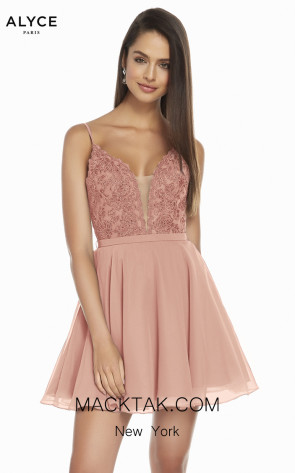 Alyce Paris 3832 Rose Wood Front Dress