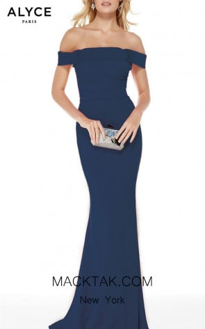 Alyce Paris 5024 Navy Front Dress