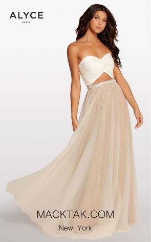 Alyce 107 Ivory/Gold Front