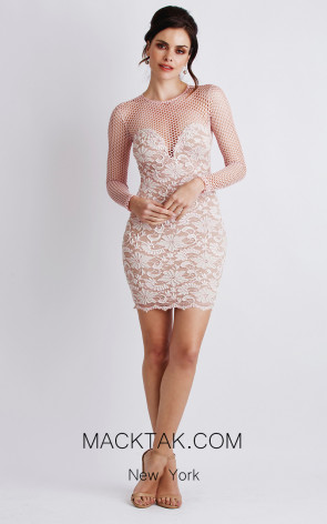 Baccio Brenda White Front Dress