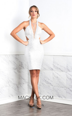 Baccio Maya White Front Dress