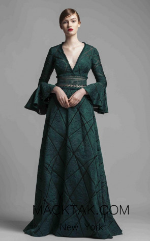 Beside Couture BC1366 Green Front Dress