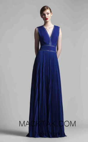 Beside Couture 1375 Blue Front Dress