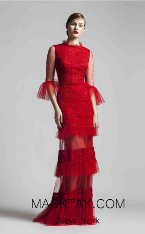 Beside Couture 1396 Red Front Dress