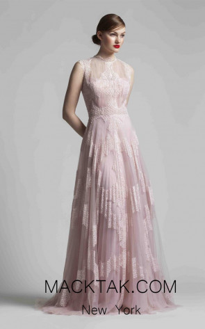 Beside Couture 1402 Pink Front Dress