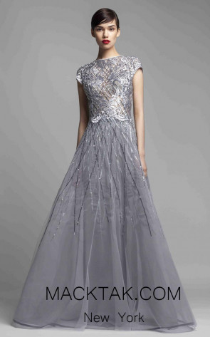 Beside Couture 1406 Gray Front Dress