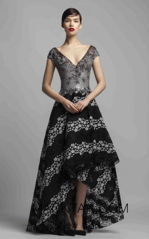 Beside Couture 1410 Black Silver Front Dress