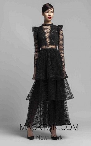 Beside Couture 1413 Black Front Dress