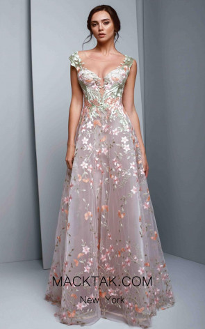 Beside Couture 1306 Pink Front Dress