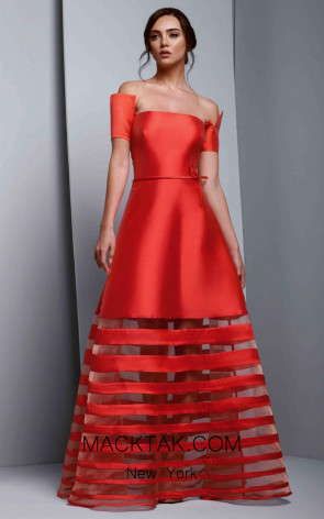 Beside Couture 1319 Red Front Dress