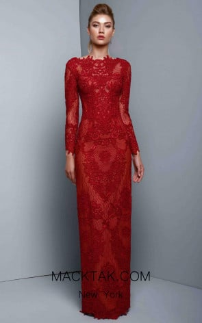 Beside Couture 1321 Ruby Front Dress