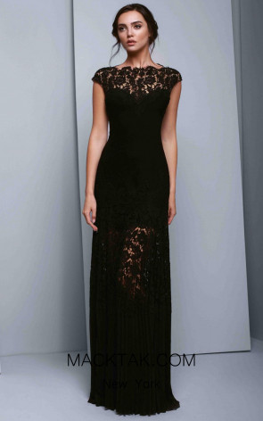 Beside Couture 1336 Black Front Dress
