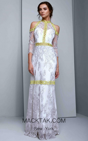 Beside Couture 1342 White Lime Front Dress