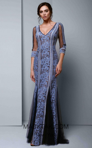 Beside Couture 1348 Blue Front Dress
