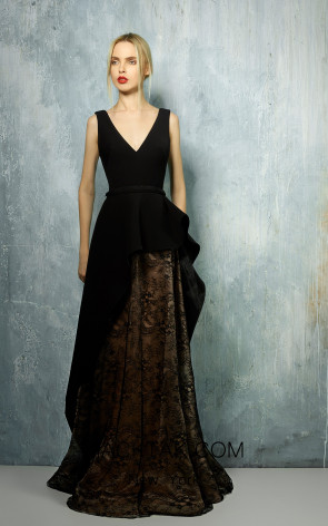 Beside Couture by Gemy Maalouf BC1281LS Front Dress