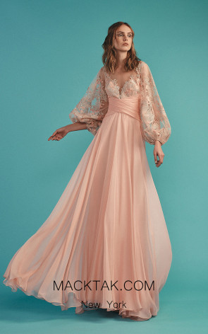 Beside Couture by Gemy Maalouf BC1483 Blush Front Evening Dress