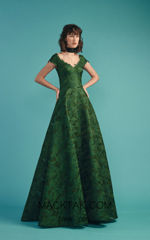 Beside Couture by Gemy Maalouf BC1487 Green Front Evening Dress