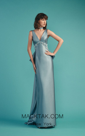 Beside Couture by Gemy Maalouf BC1494 Blue Front Dress
