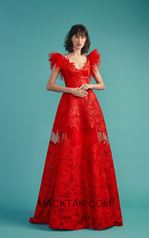 Beside Couture by Gemy Maalouf BC1499 Red Front Dress