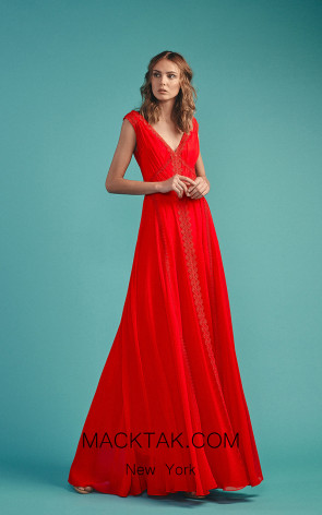 Beside Couture by Gemy Maalouf BC1500 Red Front Dress