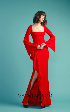 Beside Couture by Gemy Maalouf BC1502 Red Front Dress