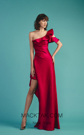 Beside Couture by Gemy Maalouf BC1509 Fuchsia Front Dress