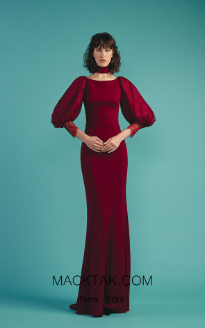 Beside Couture by Gemy Maalouf BC1512 Plum Front Dress
