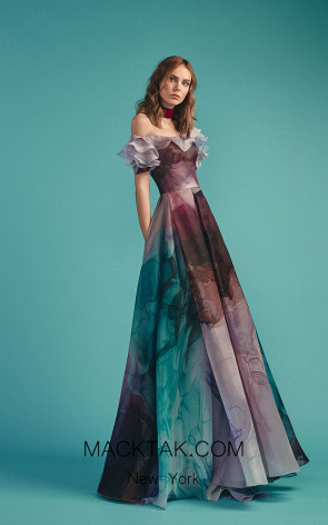 Beside Couture by Gemy Maalouf BC1517 Butterfly Front Dress